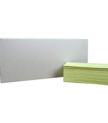 Handdoekjes Z-vouw cellulose groen 2 laags 23 x 25 cm