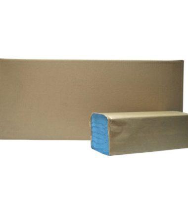 Handdoekjes Z-vouw Recycled blauw 1 laags 23 x 25 cm