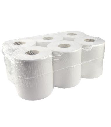Handdoekrol Midi Recycled tissue wit 1 laags 19.5 cm 300 meter