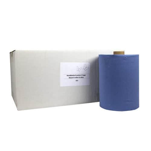 Handdoekrol Motion Blauw 2 laags 24 cm x 150 meter