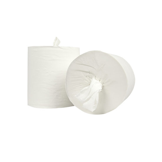 Handdoekrol Midi coreless Cellulose 1 laags 20 cm x 300 meter flat paper