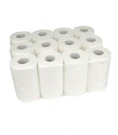 Handdoekrol Mini cellulose 2 laags 20 cm 12 x 72 meter op rol