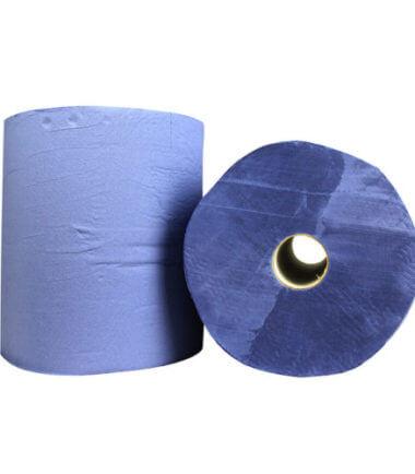 Industrierol verlijmd blauw 2 laags verlijmd 38 cm x 380 m
