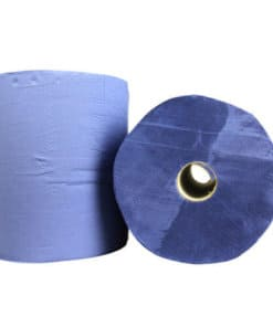 Industrierol verlijmd blauw 2 laags 22 cm x 380 m