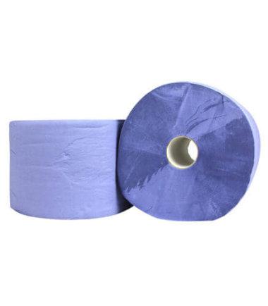 Industrierol verlijmd blauw 3 laags 24 cm x 190 m