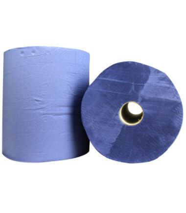 Industrierol verlijmd blauw 3 laags 38 cm x 190 m