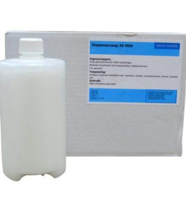 Zeepcreme Mevon 55 Witte zeep flacon 6 x 1000 ml