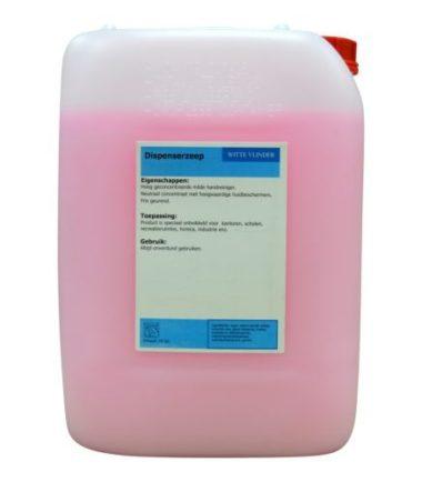 Zeepcreme navulzeep roze zeep 10 liter per can