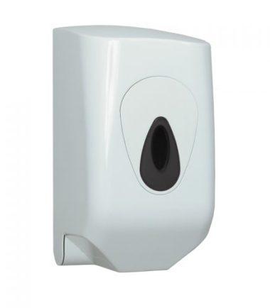 Handdoekrol dispenser MINI wit kunststof