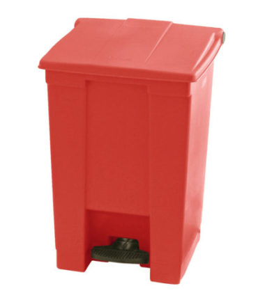 Afvalbak STEP-ON CLASSIC Rood 45 liter Rubbermaid