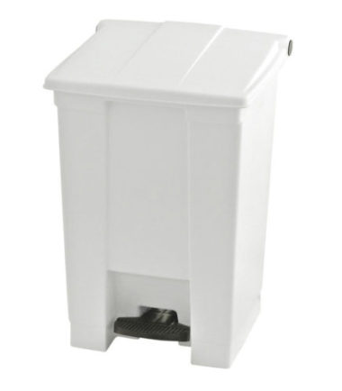 Afvalbak STEP-ON CLASSIC wit 45 liter Rubbermaid