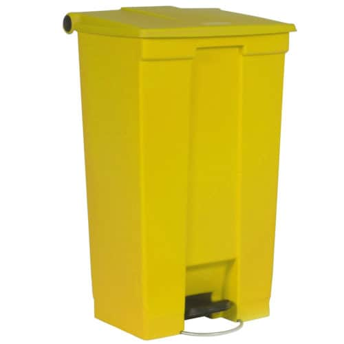 Afvalbak STEP-ON CLASSIC geel 87 liter Rubbermaid