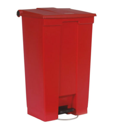 Afvalbak STEP-ON CLASSIC rood 87 liter Rubbermaid