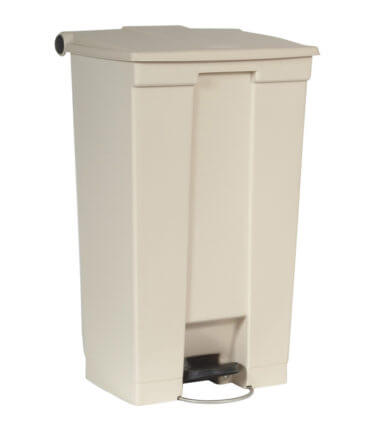 Afvalbak STEP-ON CLASSIC beige 87 liter Rubbermaid