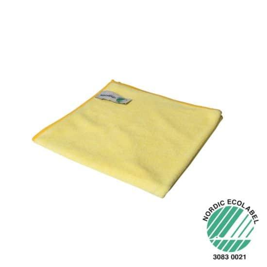 Microvezel reinigingsdoek Wecoline geel 40x40cm