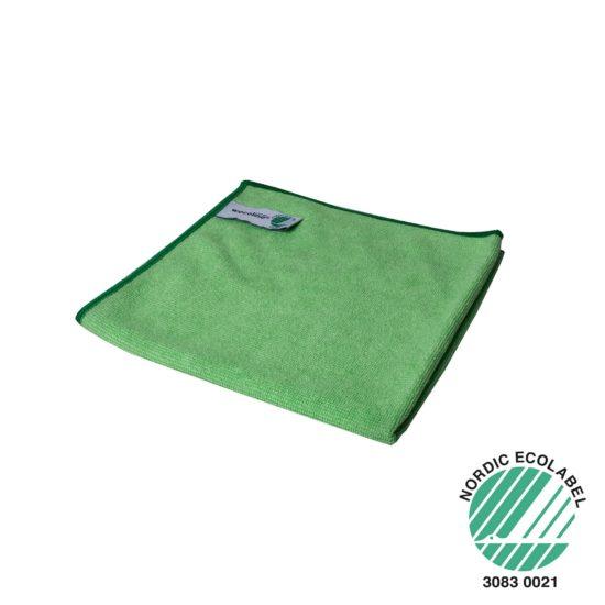Microvezel reinigingsdoek Wecoline groen 40x40cm