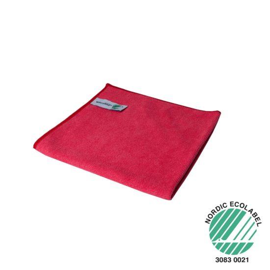 Microvezel reinigingsdoek Wecoline rood 40x40cm