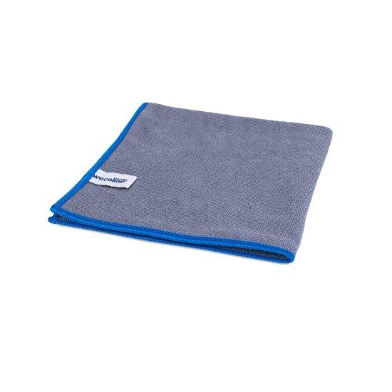 Microvezel reinigingsdoek allure antraciet blauwe rand 40x40cm