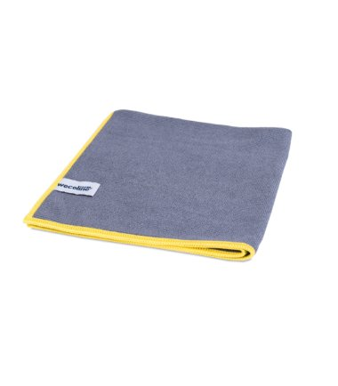 Microvezel reinigingsdoek allure antraciet gele rand 40x40cm