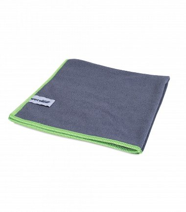 Microvezel reinigingsdoek allure antraciet groene rand 40x40cm