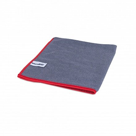 Microvezel reinigingsdoek allure antraciet rode rand 40x40cm
