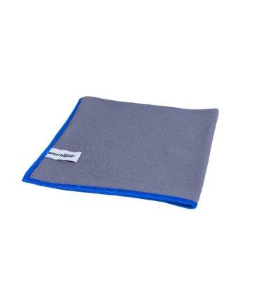 Microvezel glasdoek Allure antraciet blauwe rand 40x40cm 10 stuks
