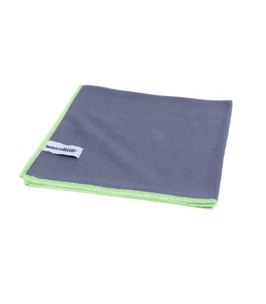 Microvezel glasdoek Allure antraciet groene rand 40x40cm 10 stuks