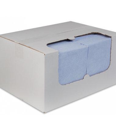 Sopdoeken nonwoven 38x40 blauw 100 stuks