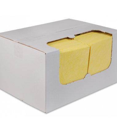 Sopdoeken nonwoven 38x40 geel 100 stuks