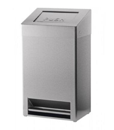Afvalbak gesloten + voetbediening 40 liter SanTRAL