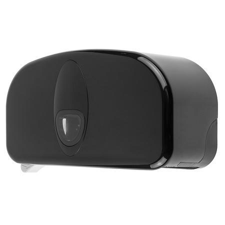 2rolshouder kunststof zwart (kokerloos) ABS kunststof Zwart PlastiQline 2020