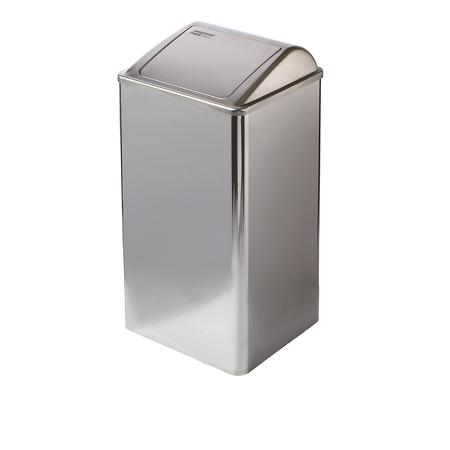 Afvalbak gesloten 65 liter hoogglans RVS hoogglans - Mediclinics