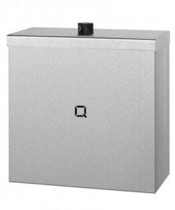 Afvalbak gesloten 9  liter RVS | Gelaste kap van 1