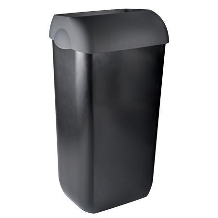 Afvalbak half open 43 liter Kunststof Zwart PlastiQline Exclusive