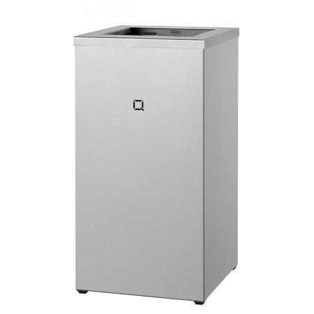 Afvalbak open 30 liter RVS | Gelaste kap van 1