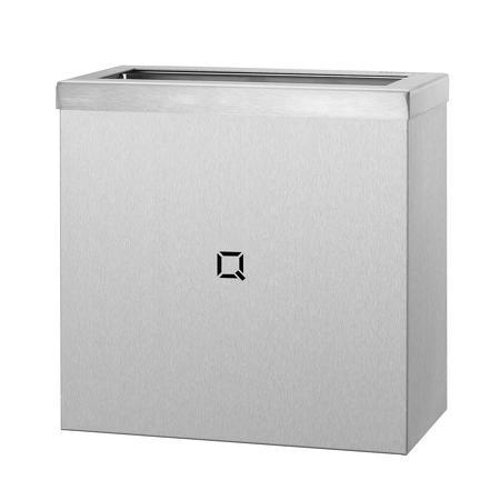 Afvalbak open 9 liter RVS   Gelaste kap van 1