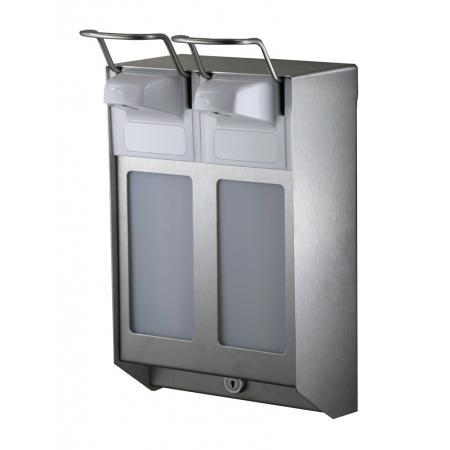 DUO Zeep- & desinfectiemiddeldispenser 500 ml KB RVS RVS - MediQo-line