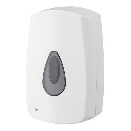 Foamzeepdispenser automatisch 1200 ml kunststof navulbaar ABS kunststof Wit PlastiQline
