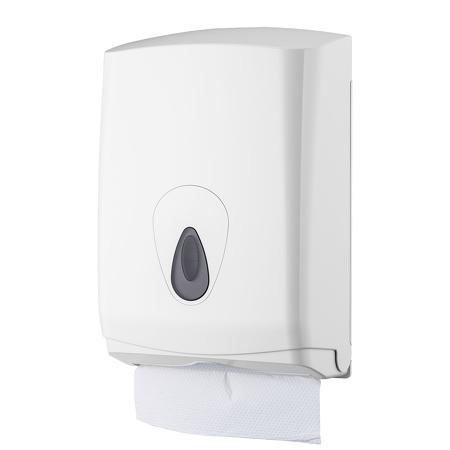 Handdoekdispenser midi kunststof ABS kunststof Wit PlastiQline