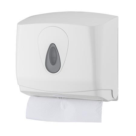 Handdoekdispenser mini kunststof ABS kunststof Wit PlastiQline