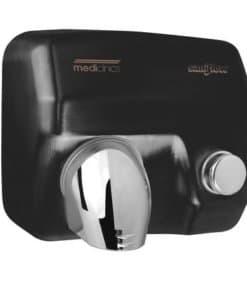 Handendroger zwart drukknop Staal Zwart gepoedercoat Mediclinics