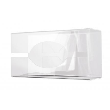 Handschoendispenser transparant groot Kunststof Transparant wit MediQo-line