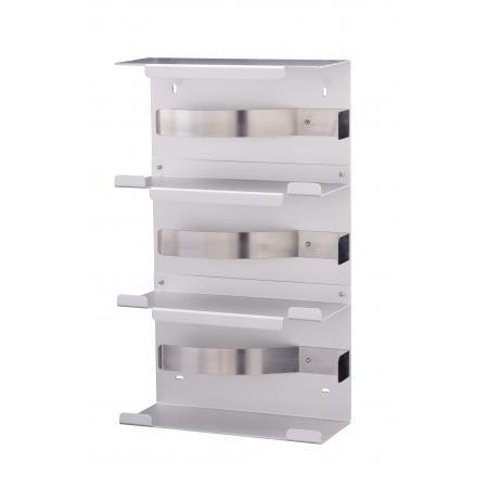 Handschoendispenser trio aluminium Aluminium Matzilver geëloxeerd MediQo-line