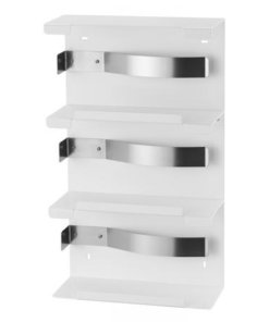Handschoendispenser trio wit Aluminium Wit gepoedercoat MediQo-line