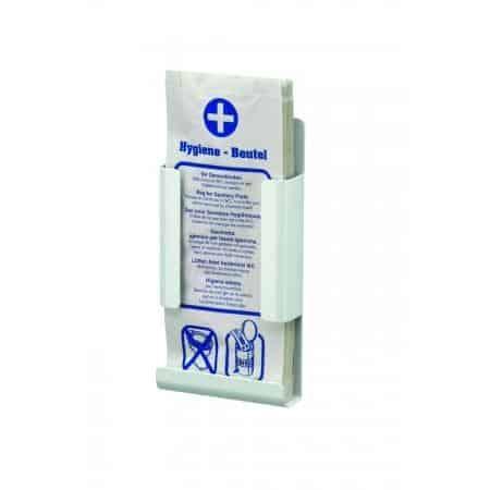 Hygiënezakjesdispenser wit Aluminium Wit gepoedercoat MediQo-line