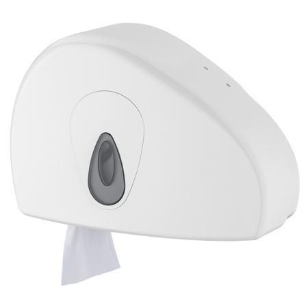 Jumboroldispenser mini + restrol kunststof ABS kunststof Wit PlastiQline