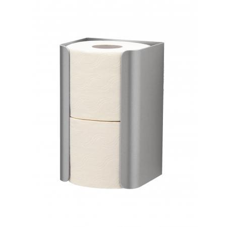 Reserverolhouder duo aluminium Aluminium Matzilver geëloxeerd MediQo-line