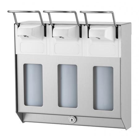 TRIO Zeep- & desinfectiemiddeldispenser 500 ml KB RVS RVS - MediQo-line