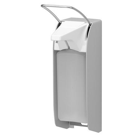 Zeep- & desinfectiemiddeldispenser 1000 ml KB aluminium - ingo-man plus versie Aluminium Matzilver geëloxeerd MediQo-line