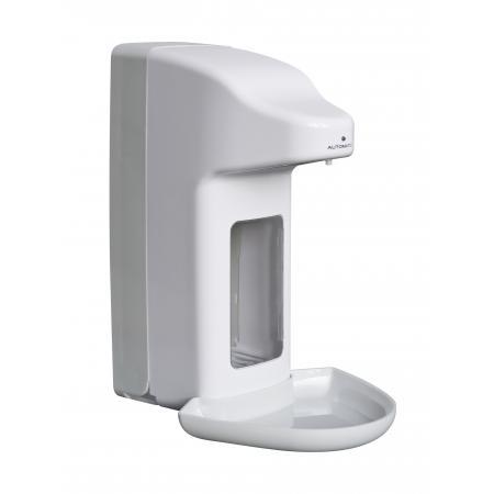 Zeep- & desinfectiemiddeldispenser automatisch 500 ml kunststof ABS kunststof Wit/Grijs MediQo-line